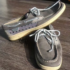 Sperry Women's Grey Boat Shoe Size 7.5